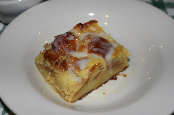 bread pudding, dessert, Waterfront Grill, monroe louisiana