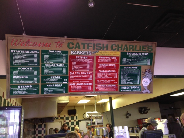 catfish charlie's, monroe louisiana