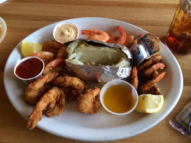 fried shrimp, grilled shrimp, cheniere shack, west monroe louisiana