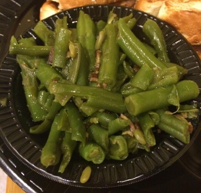 Green beans, bbq pit, monroe louisiana