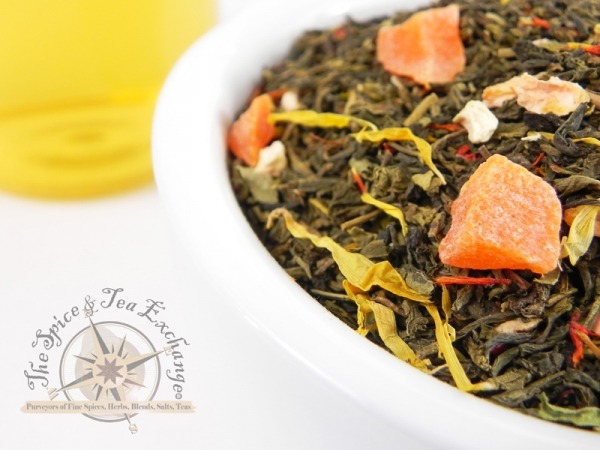 mango tea, green tea, mango green tea, spice and tea exchange, west monroe