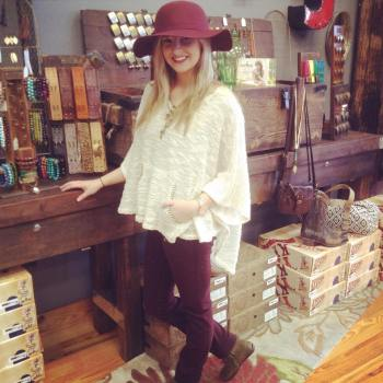 Salt & Pepper Accessory Boutique hat and pants in Marsala