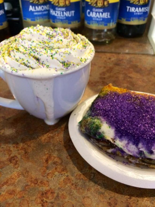 corner coffee, king cake, mardi gras, monroe louisiana