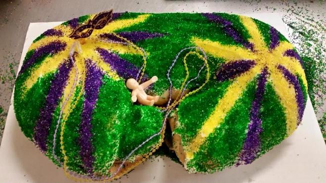 king cake, mardi gras, daily harvest, monroe louisiana