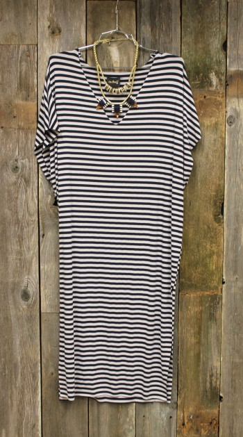 stripes, tee dress, K-Sera, West Monroe Louisiana, Antique Alley, shopping