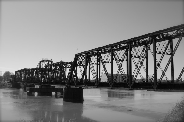 railroad bridge, ouachita river, monroe louisiana